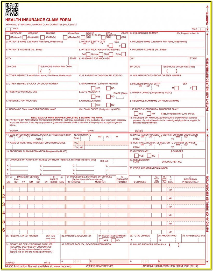 Hcfa 1500 Form Download