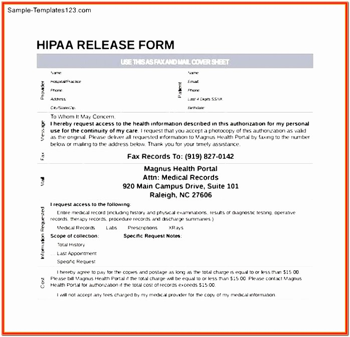 Hipaa Agreement Form For Patients