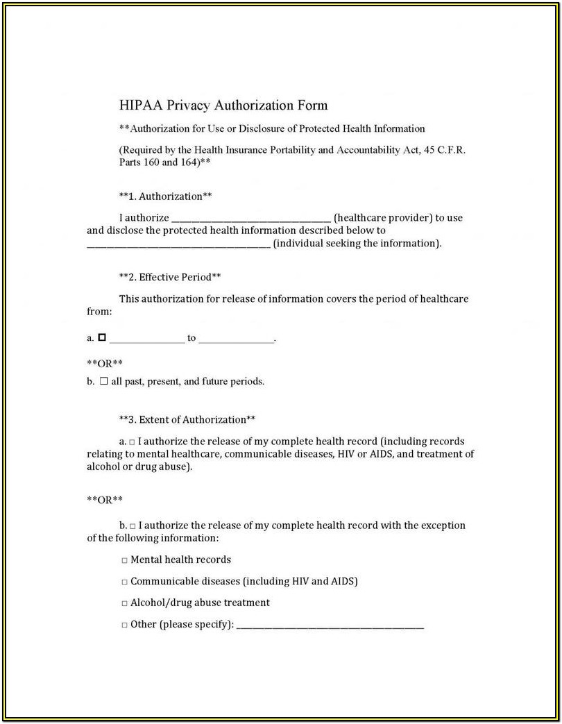 Hipaa Compliant Release Form