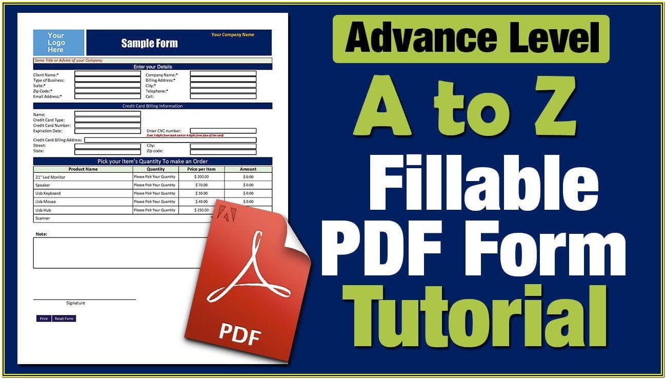 How To Create A Pdf Fillable Form