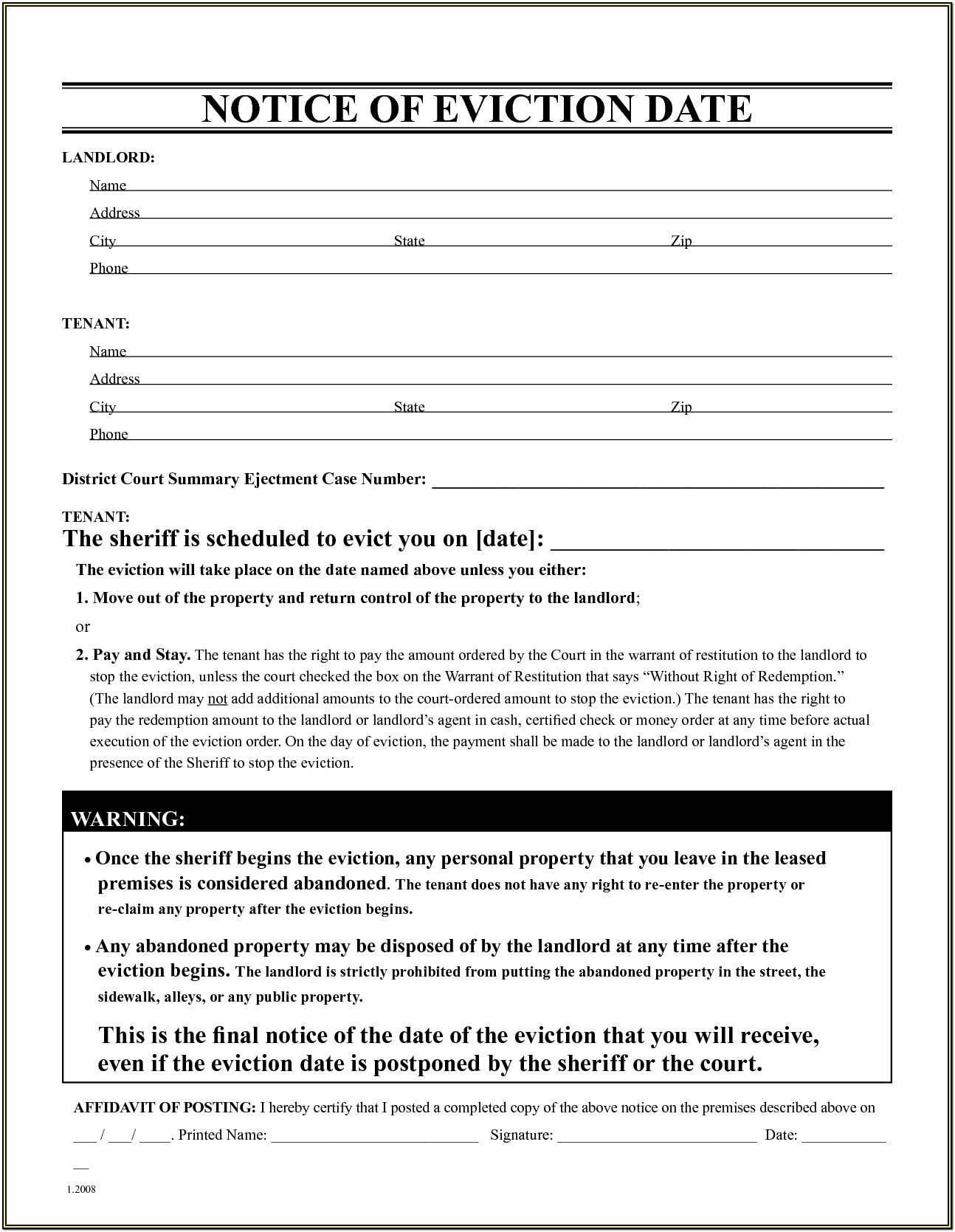 How To Fill Out Eviction Forms