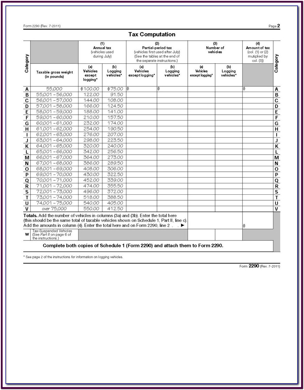 How To Fill Out Form 2290