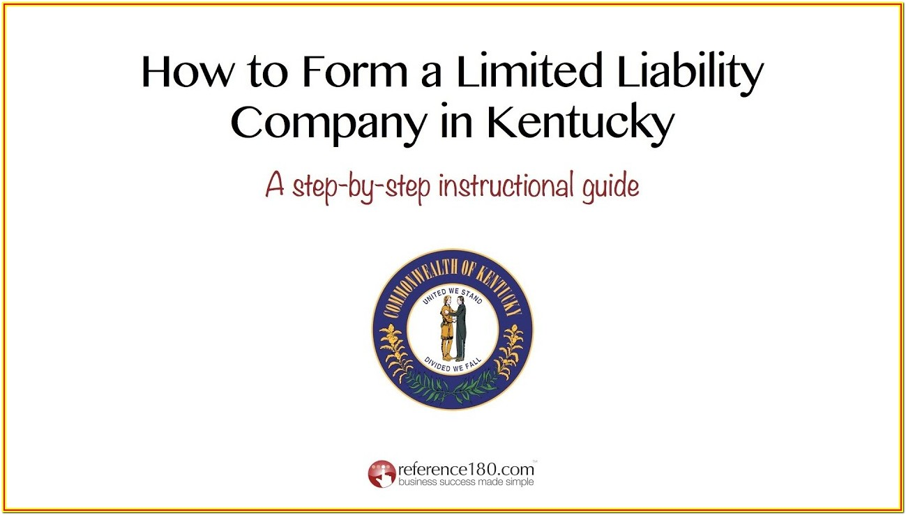 How To Form An Llc In Kentucky