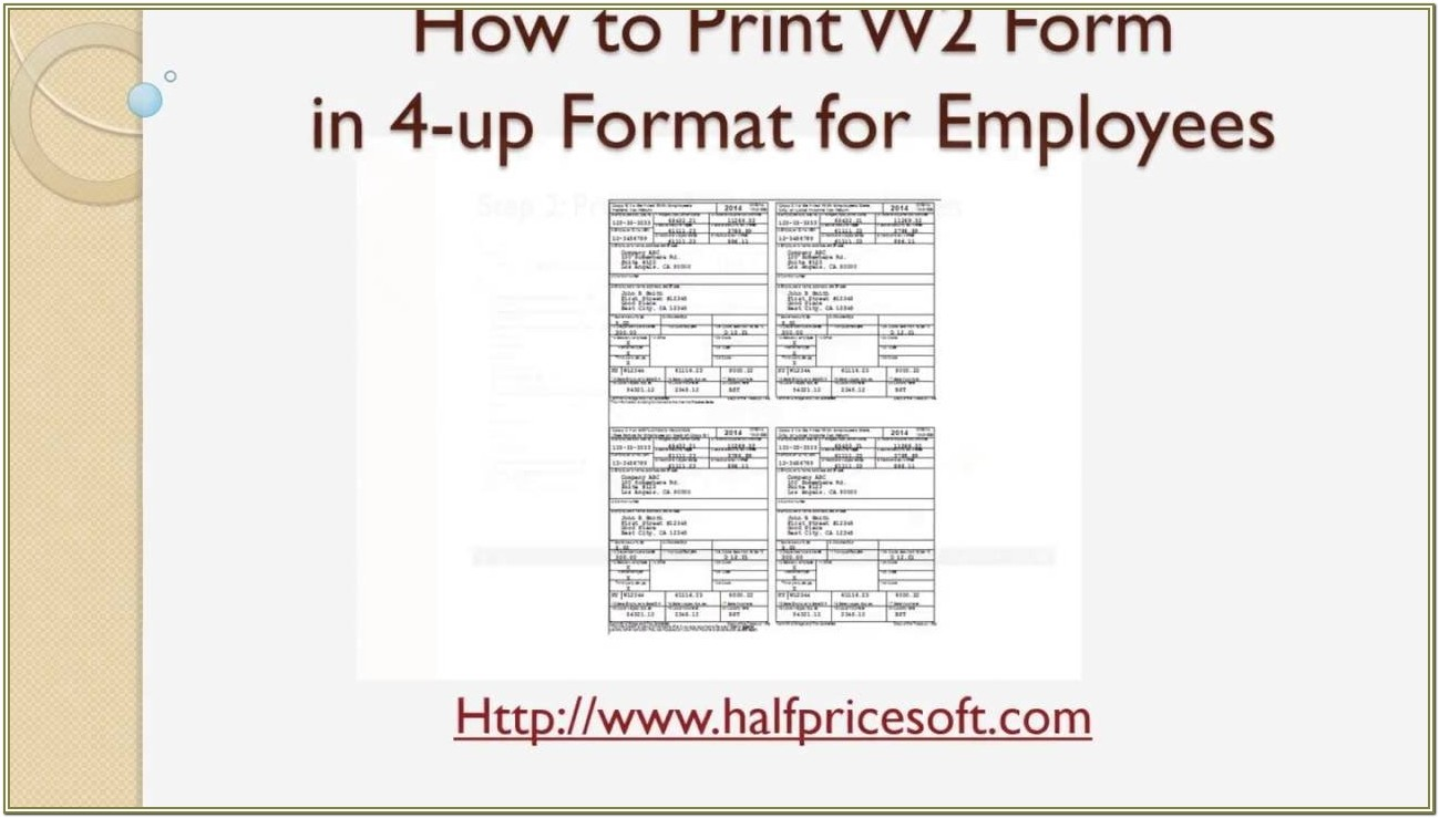How To Print W2 Forms For Employees