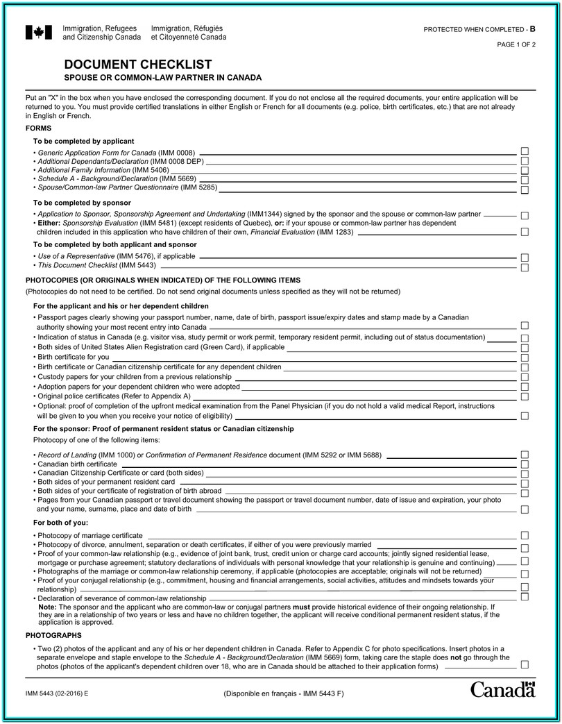 Immigration Forms For Spouse