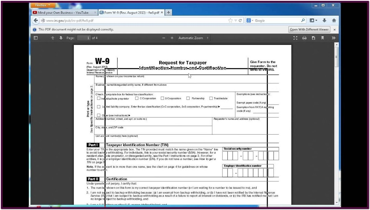 Independent Contractor 1099 Tax Form