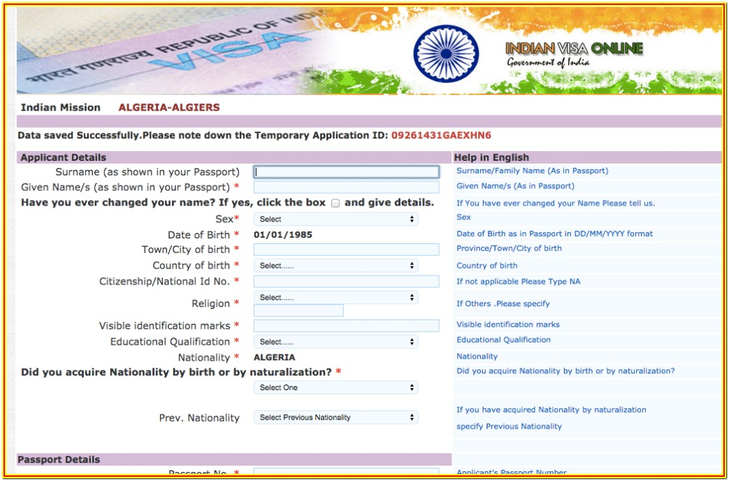 Indian Tourist Visa Application Form For Bangladesh Pdf