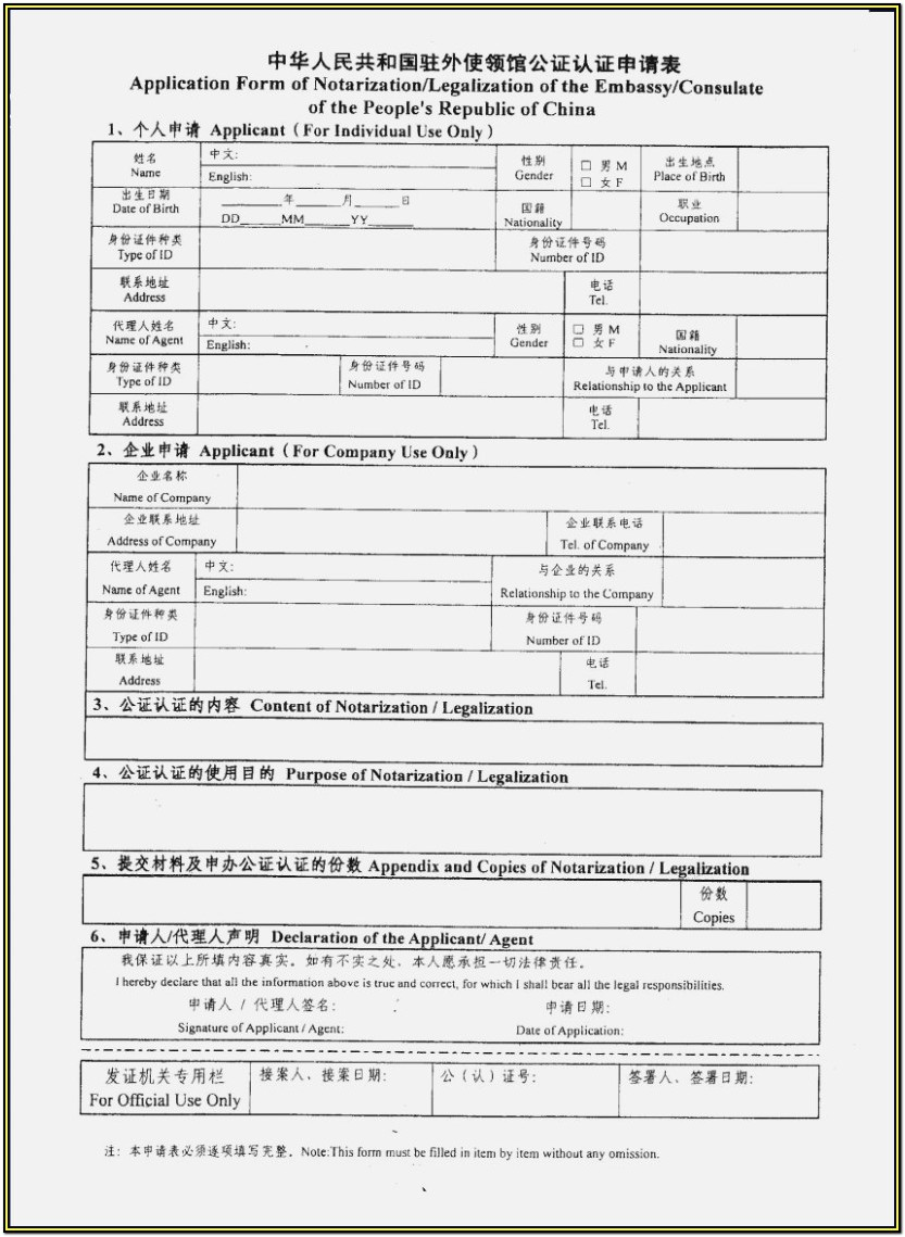 Indian Visa Application Form Pdf