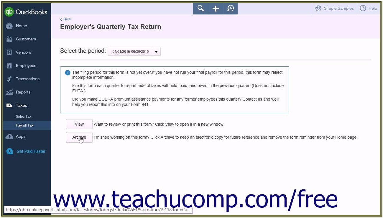 Intuit Payroll Forms