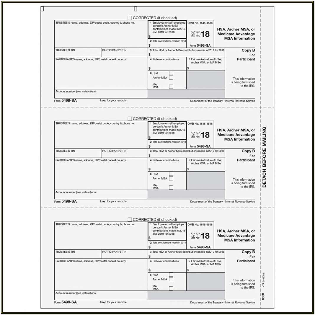 Ira Rollover Tax Form 5498