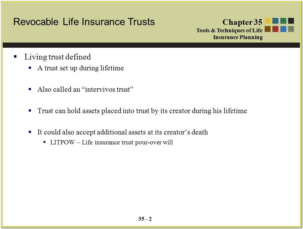 Irrevocable Life Insurance Trust Form 1041