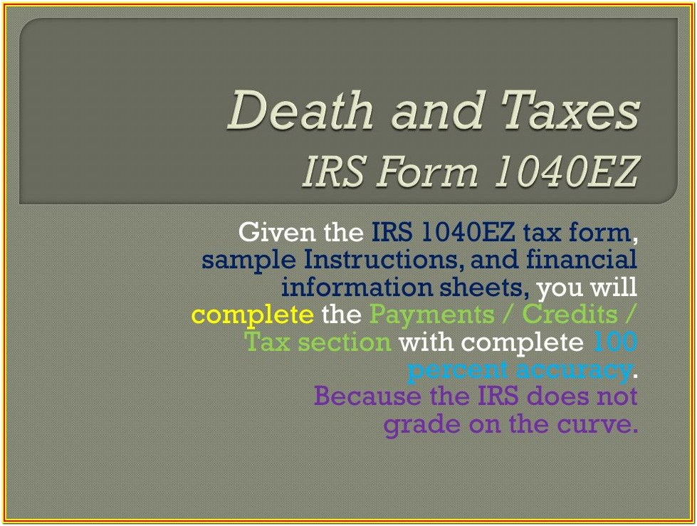 Irs 1040ez Tax Form