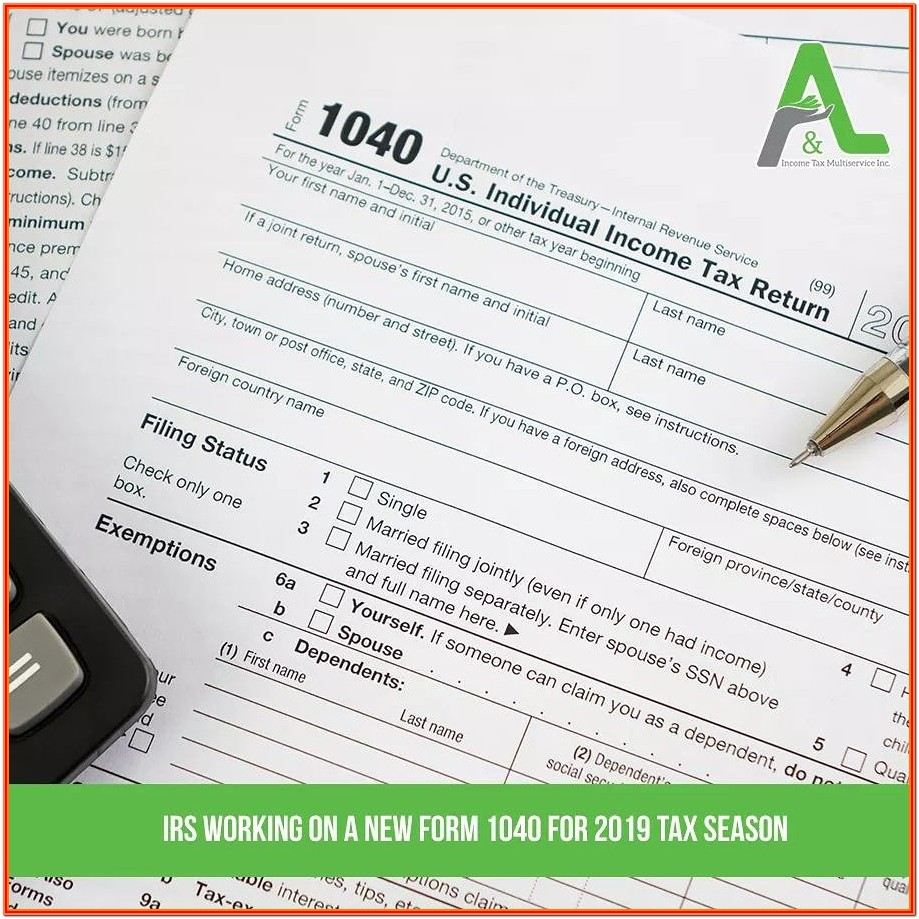 Irs Form 1040a Or 1040ez