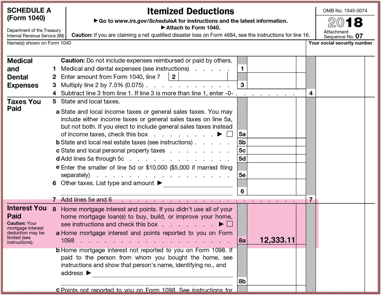 Irs Form 1098 Mortgage Interest Statement