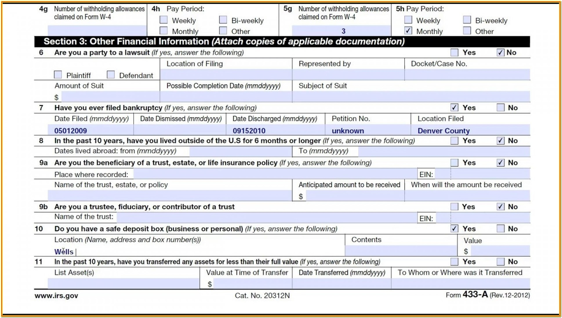 Irs Form 433 B Instructions
