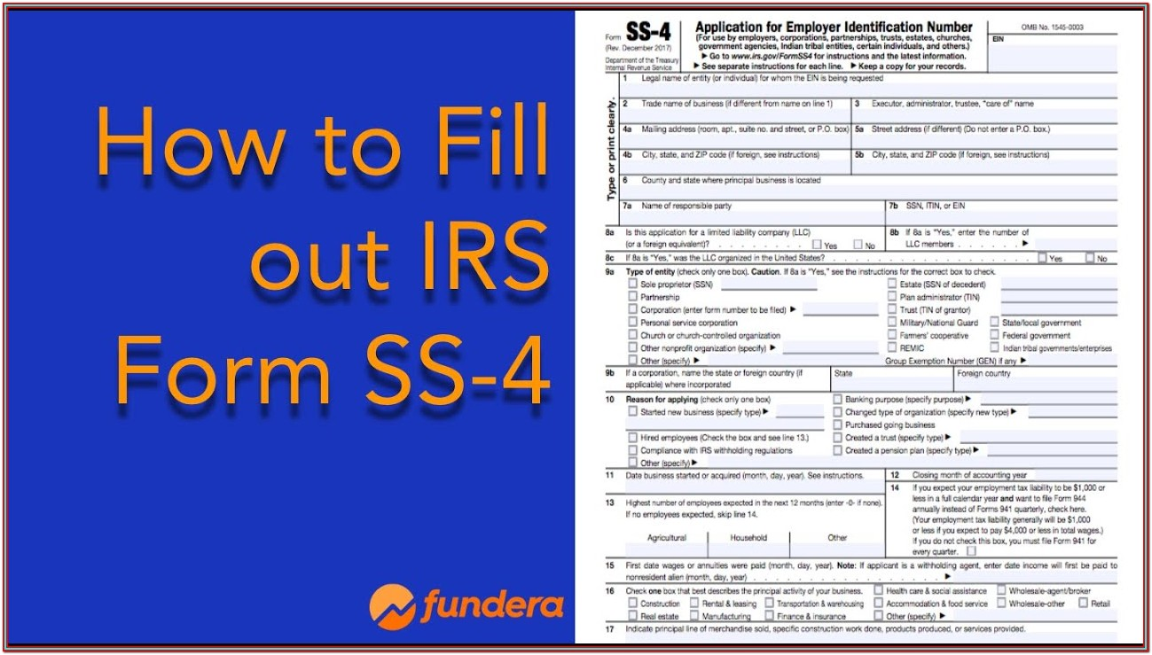 Irs Forms Ein Application