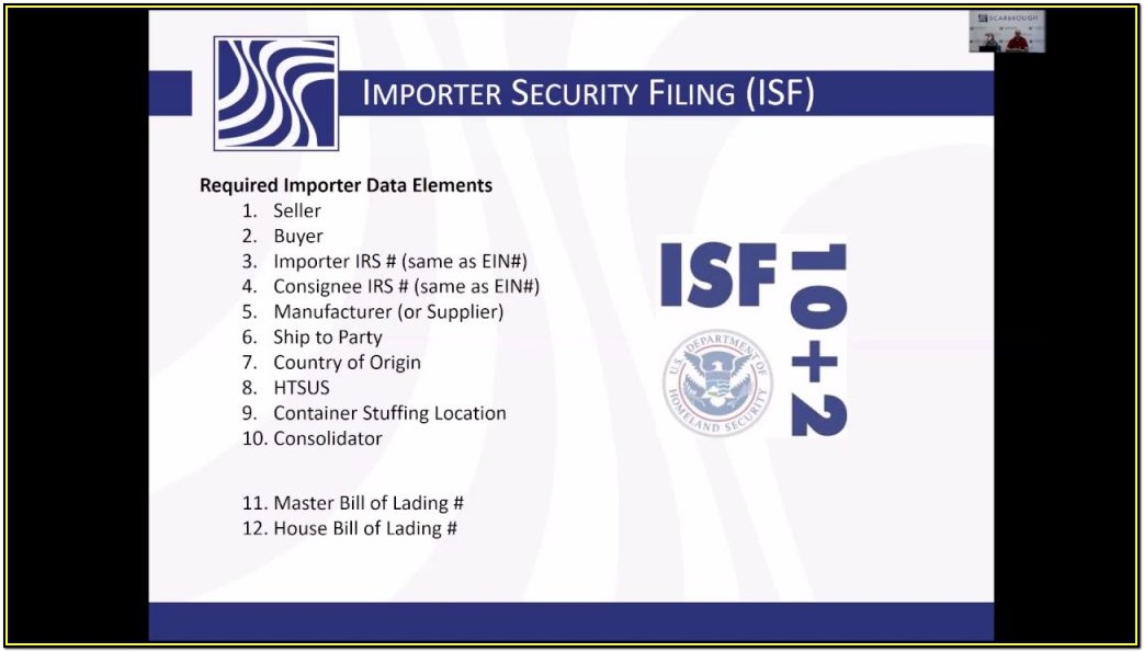 Isf Filing Form