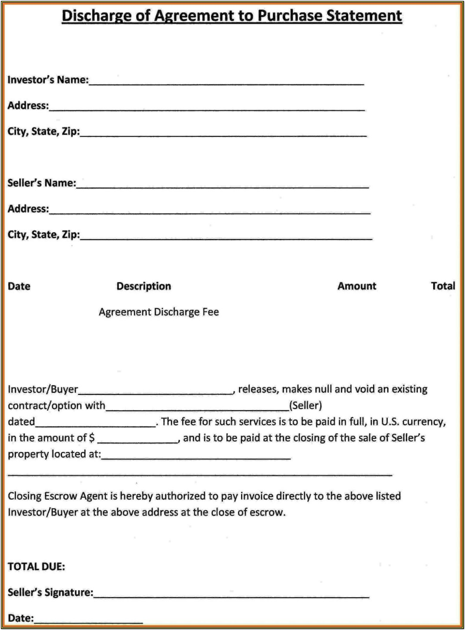 Land Purchase Agreement Printable Land Contract Form