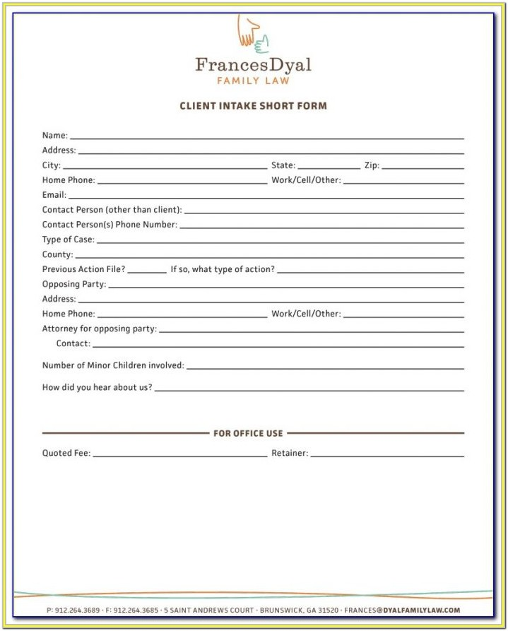 Lawyer Client Intake Form