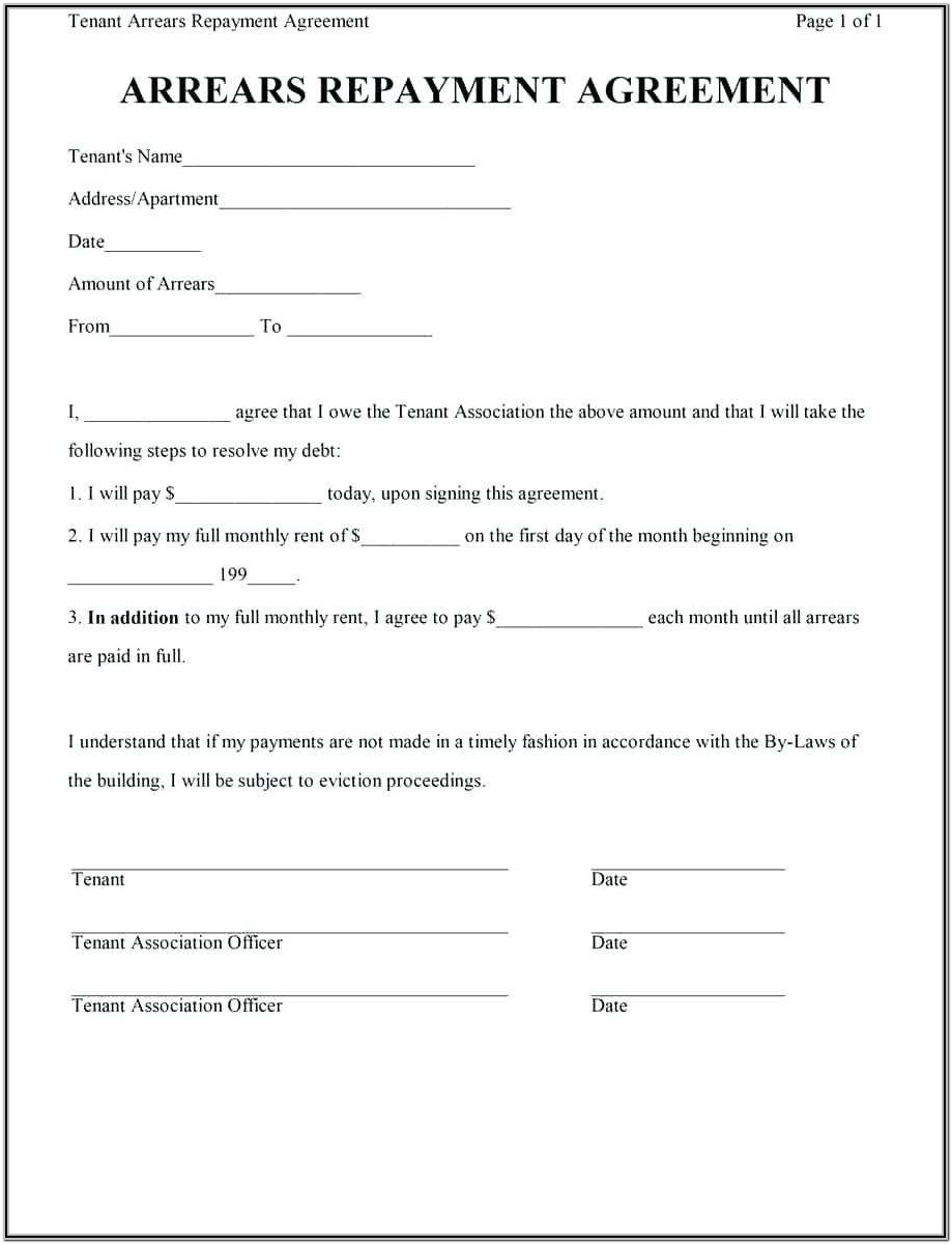 Layaway Contract Form Template