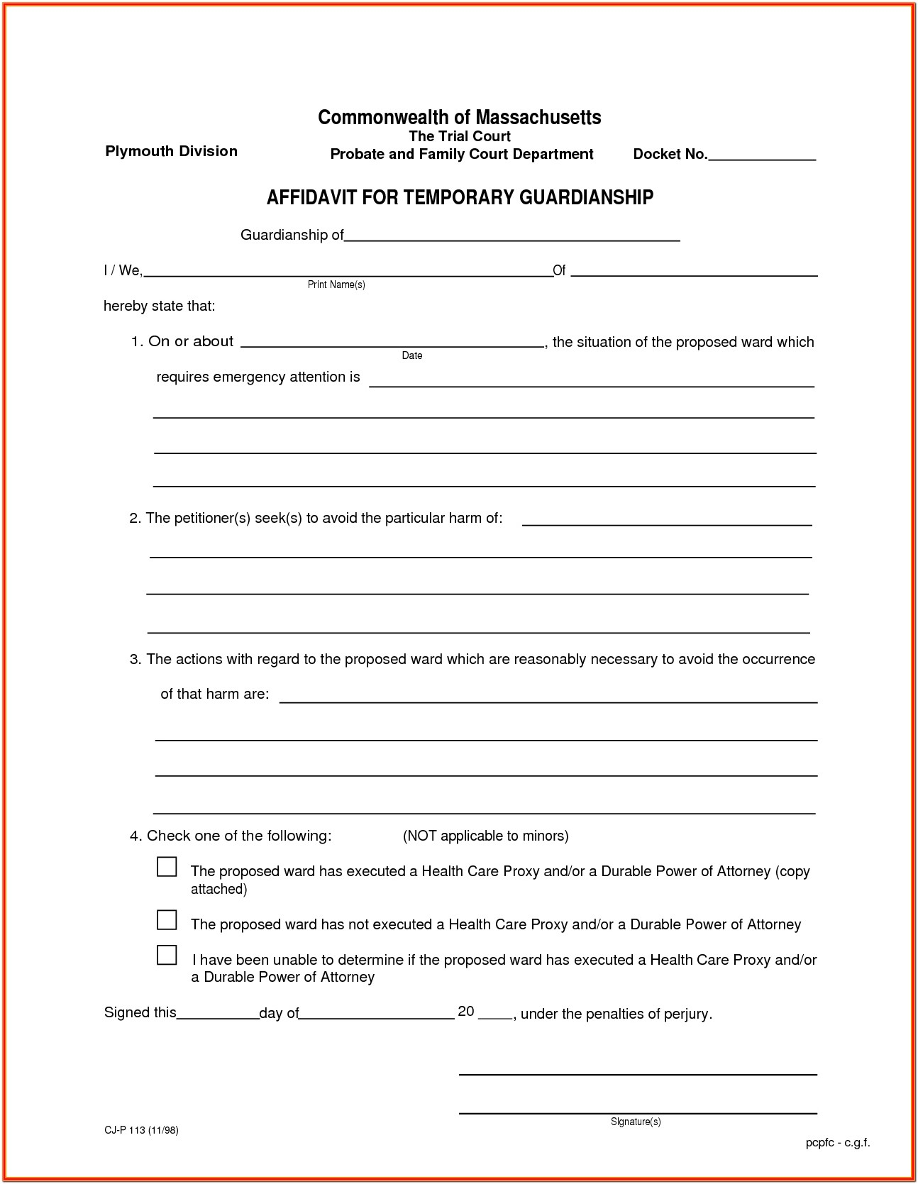 Legal Guardianship Guardianship Forms Texas