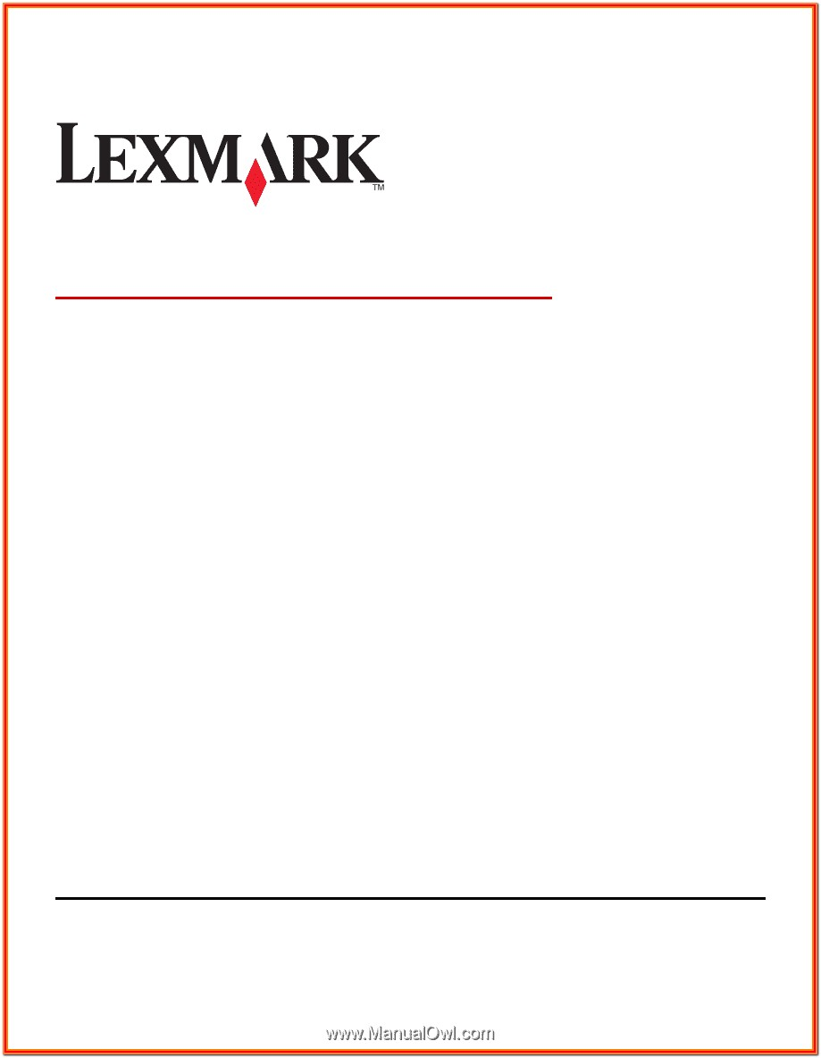 Lexmark Forms Printer 2500 Series