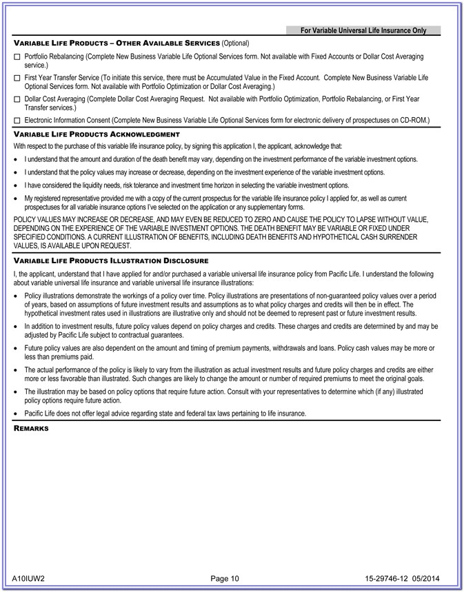 Life Insurance Collateral Assignment Form