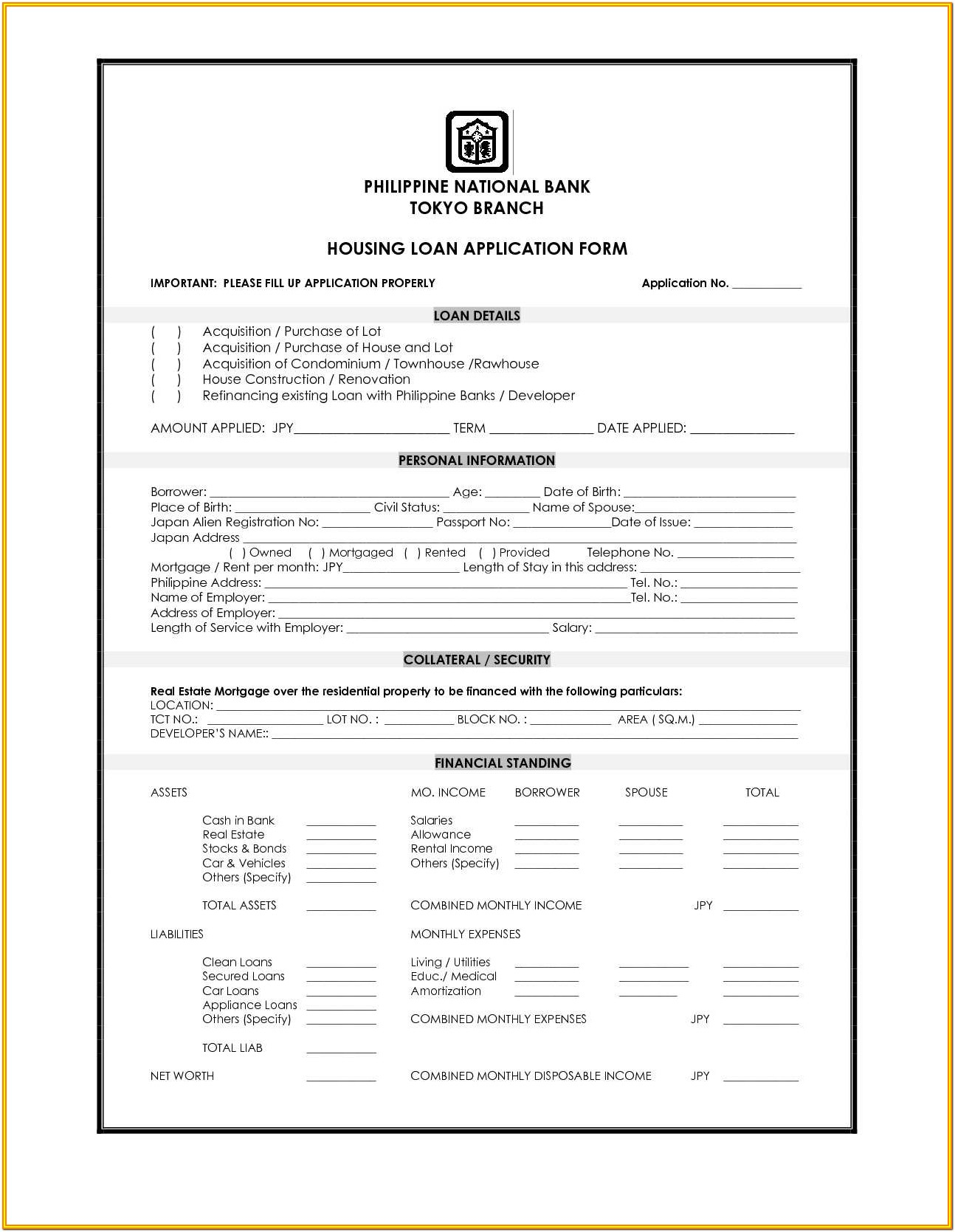 Loan Agreement Form With Collateral