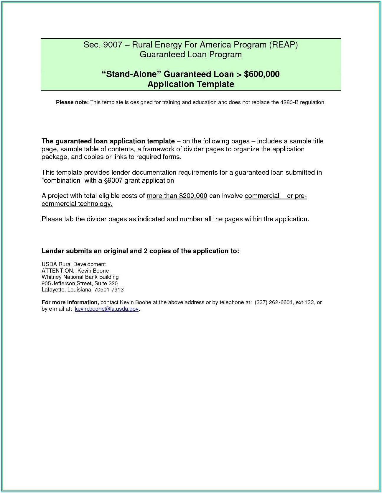Loan Modification Agreement Form