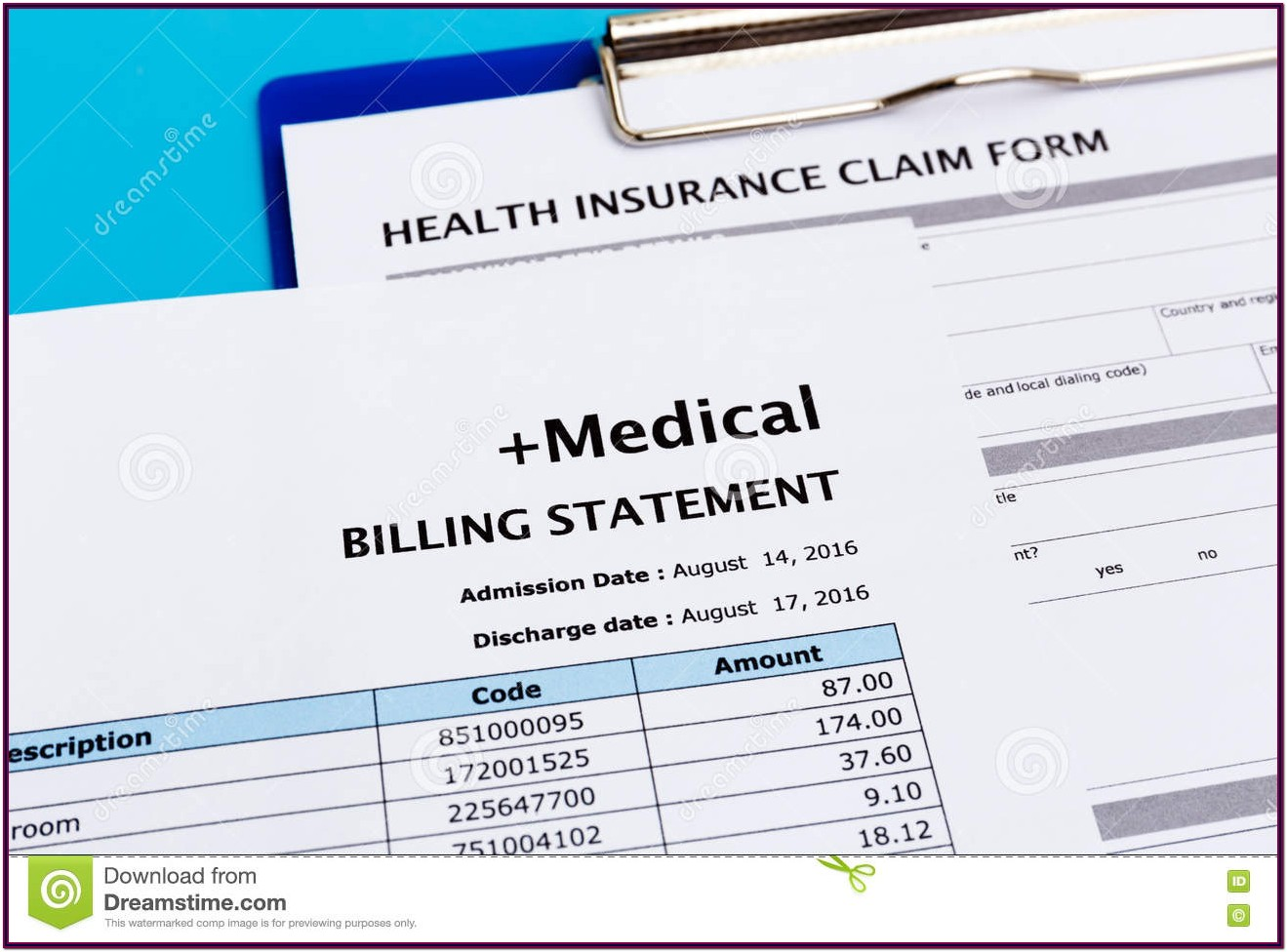 Medical Bill Claim Form