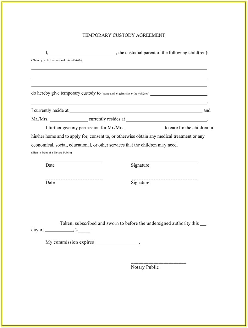 Medical Guardianship Form For Adults