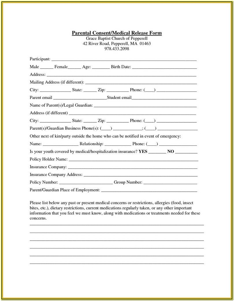 Medical Guardianship Form