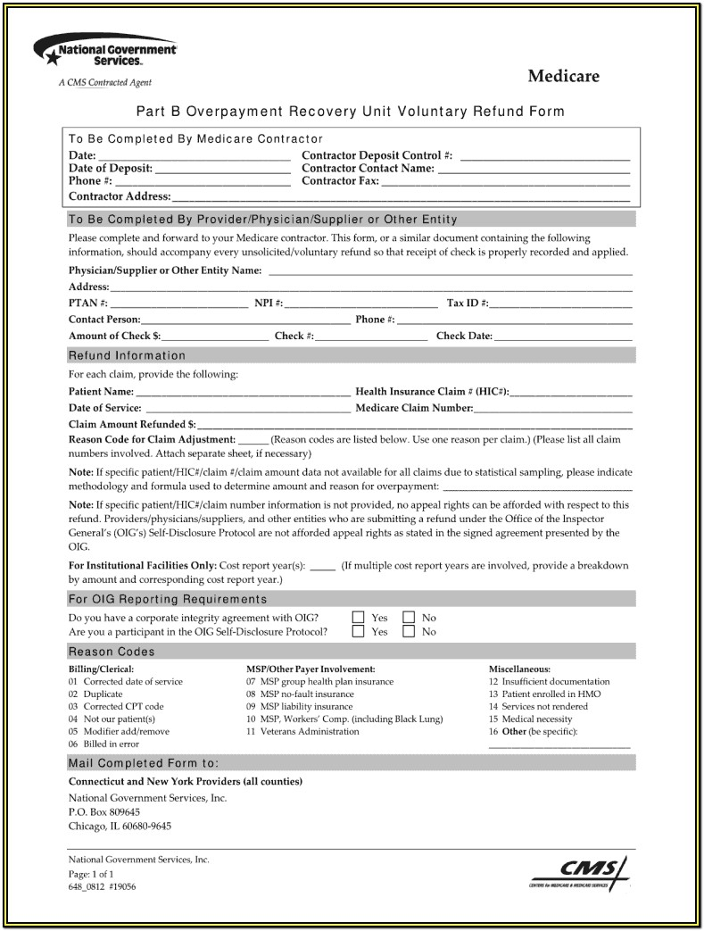 Medicare Form Cms 40b Instructions
