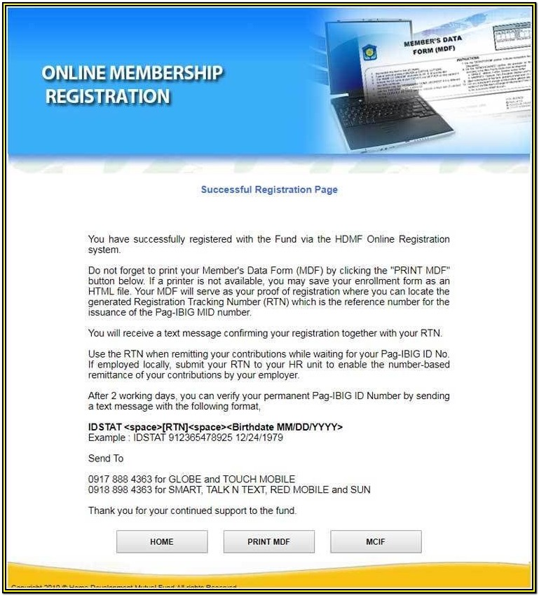 Membership Pag Ibig Online Registration Form