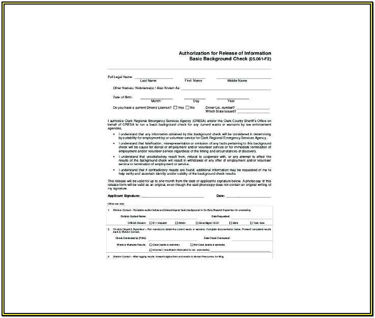 Nanny Background Check Form