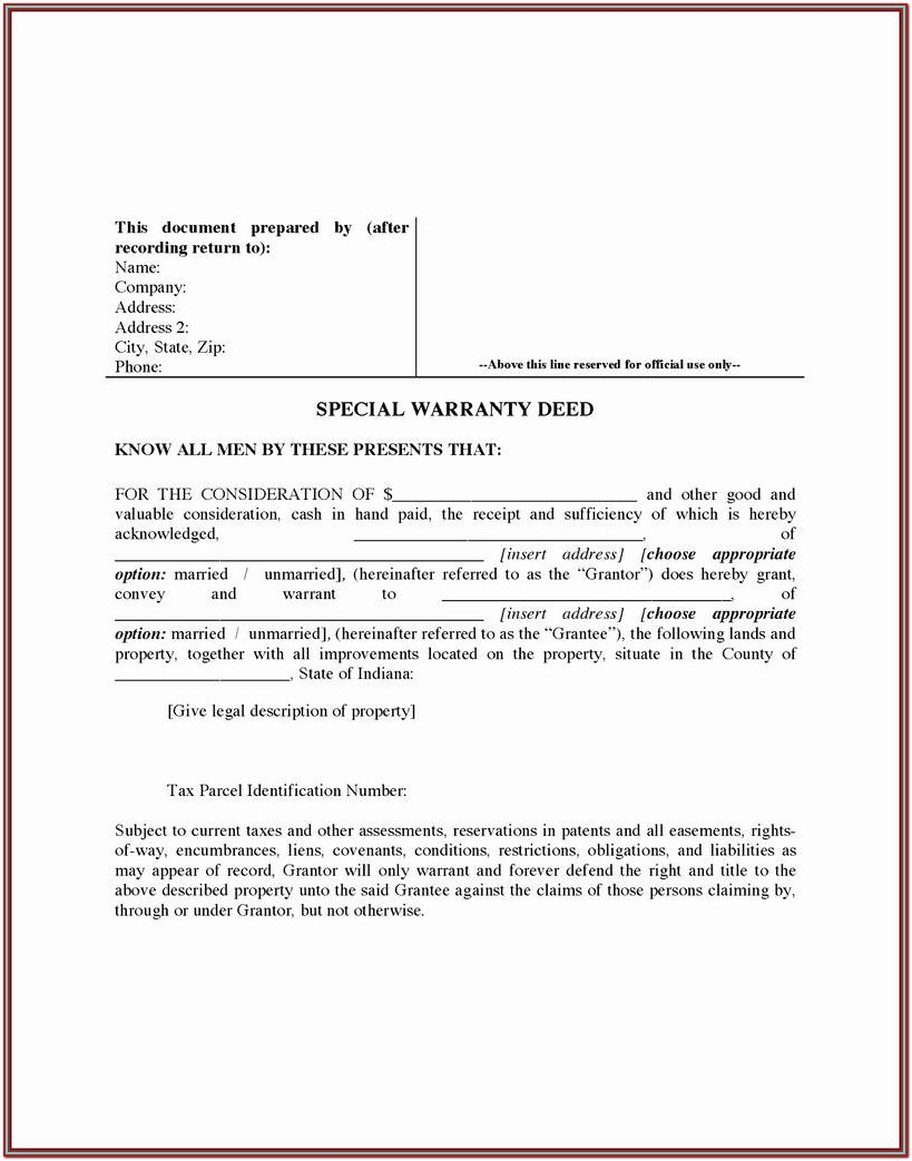 Nevada Quit Claim Deed Form