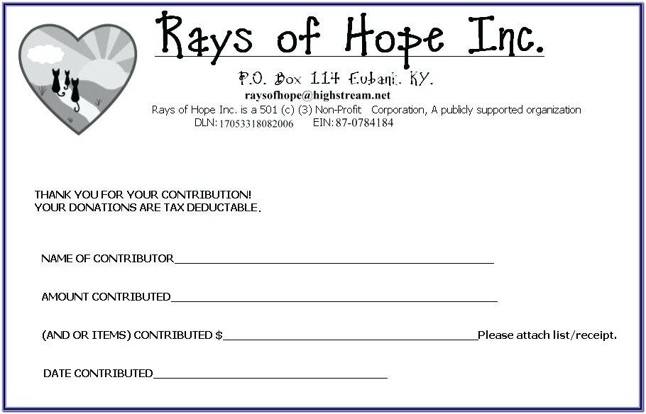 Non Profit Donation Pledge Form Template