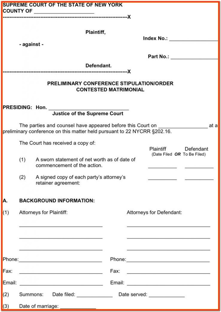Nys Separation Agreement Forms