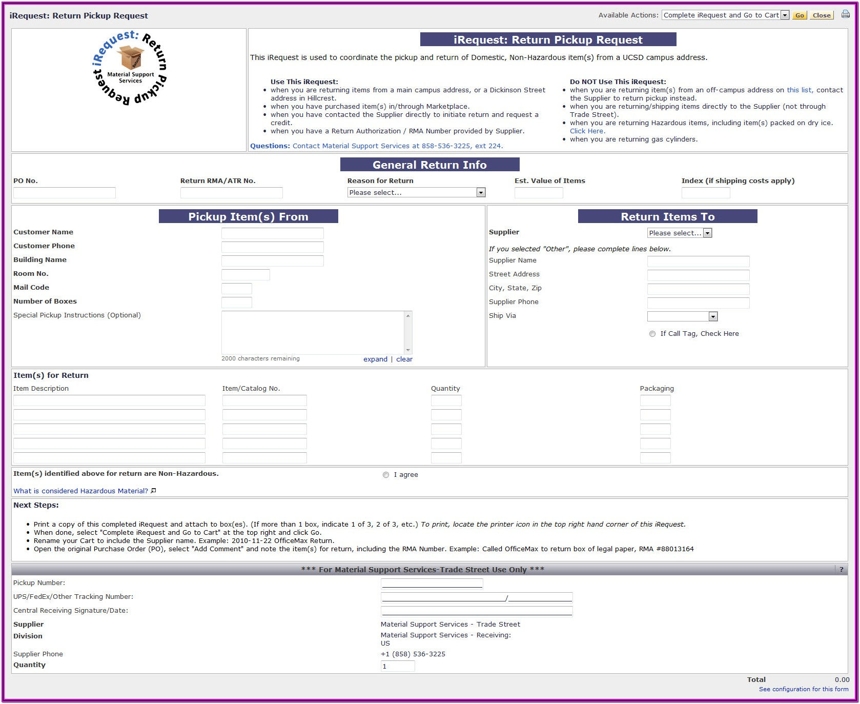 Parts Requisition Form Template
