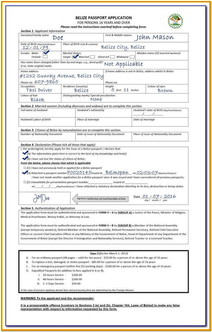 Passport Forms Renewal Canada