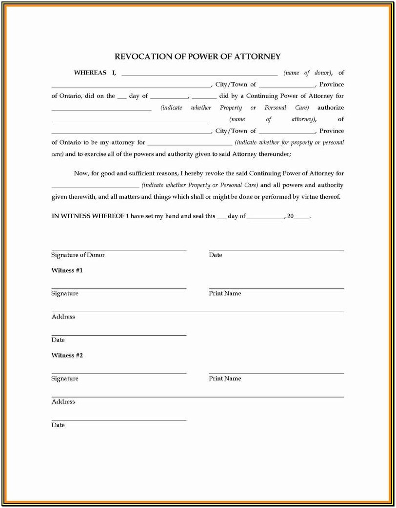 Power Of Attorney Form Ri