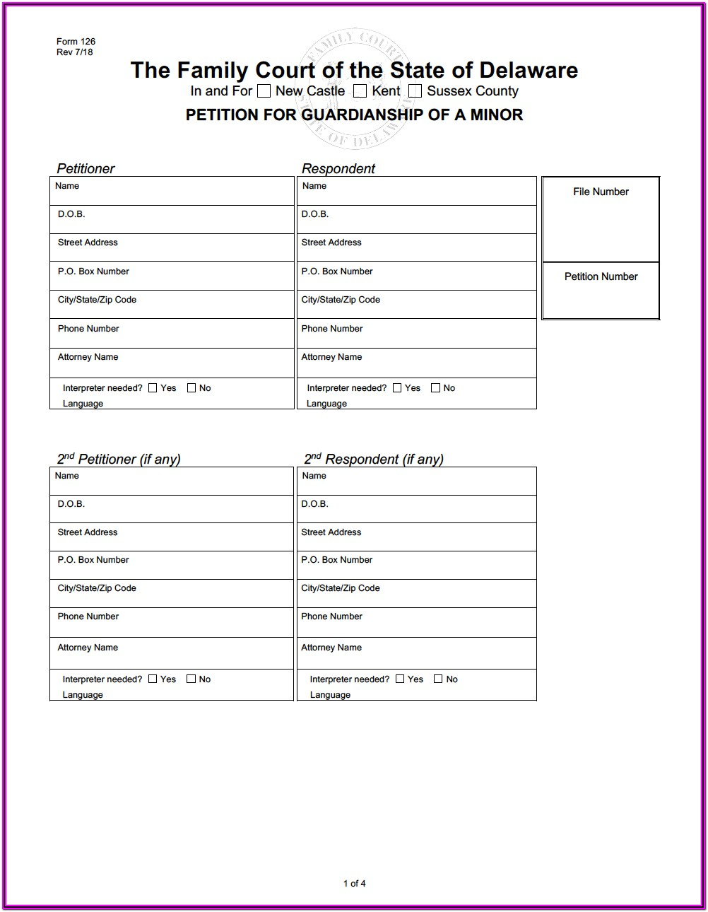 Power Of Attorney Guardianship Form