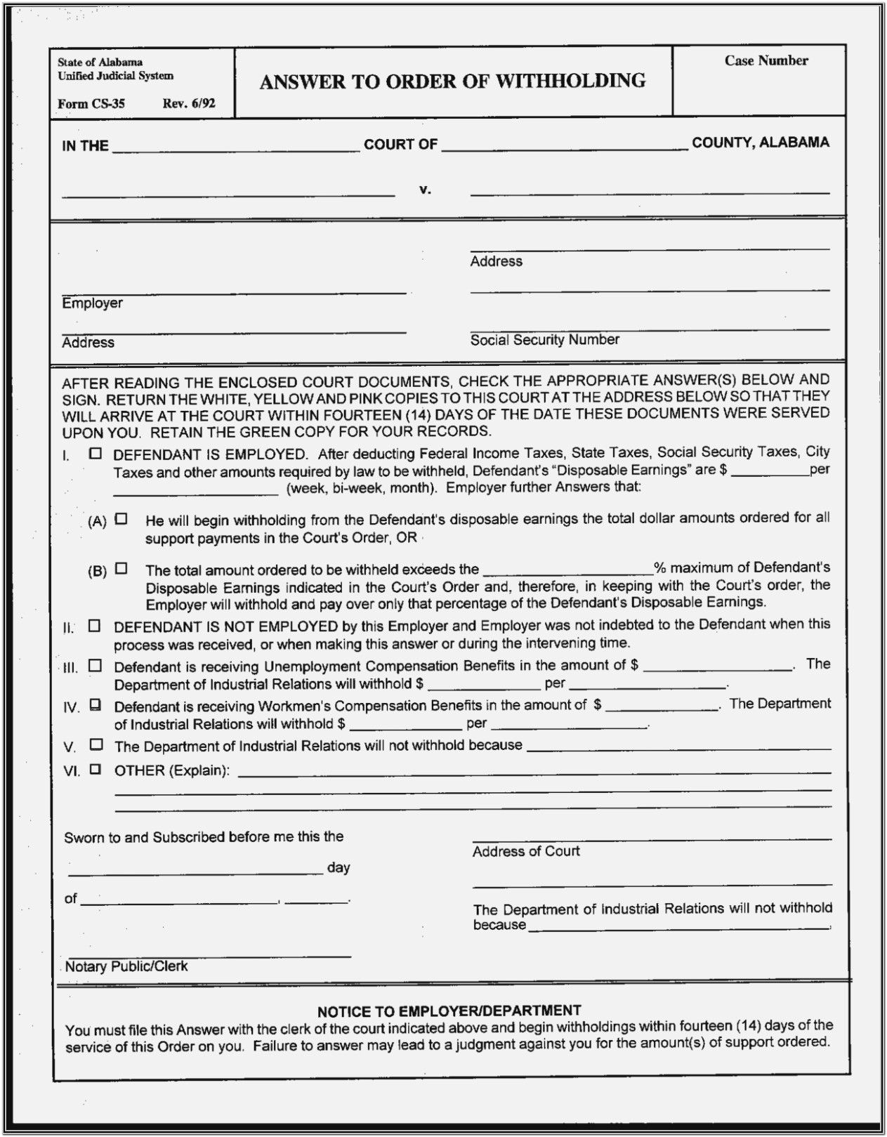 Printable Alabama Divorce Forms