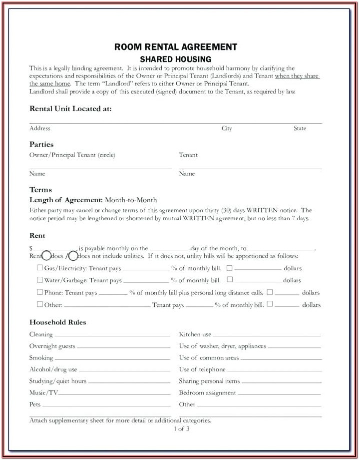 Printable Copy Printable Lease Forms