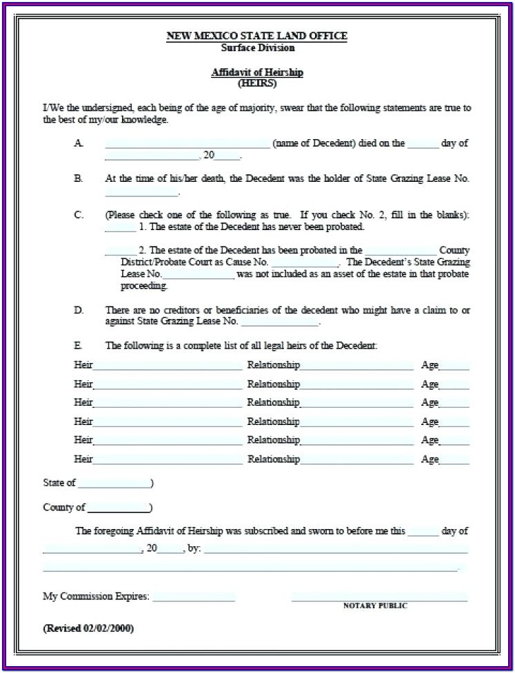 Printable Estate Accounting Forms
