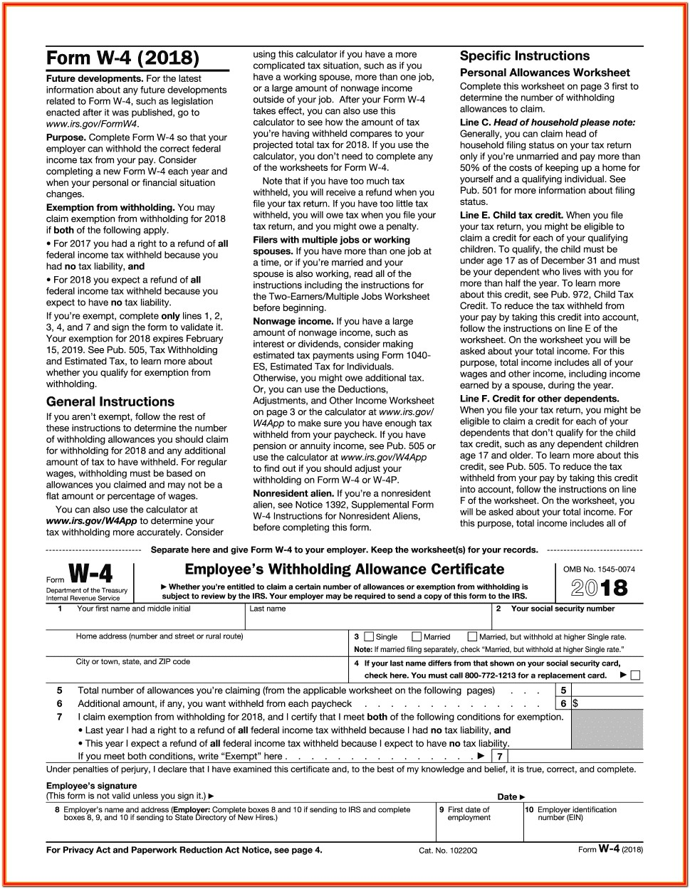 Printable Federal Tax Forms