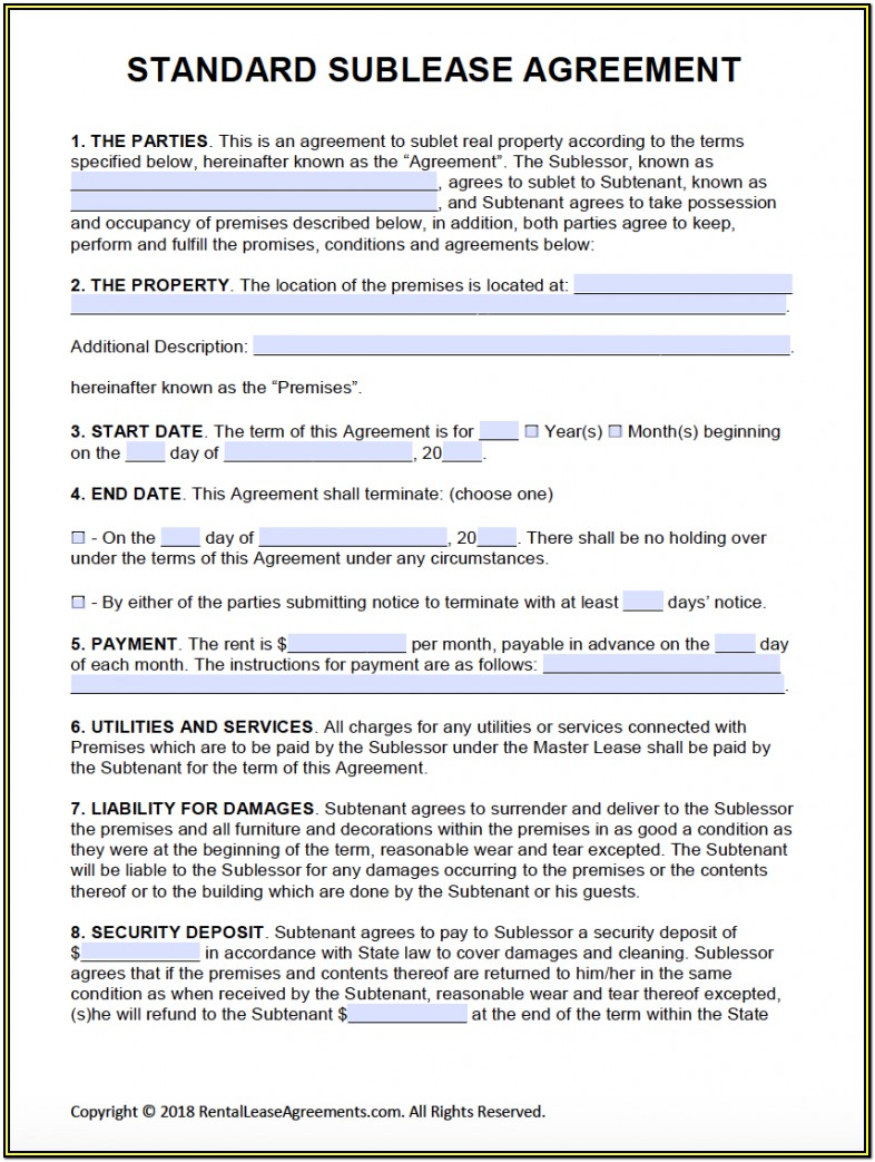 Printable Free Commercial Lease Agreement Forms To Print