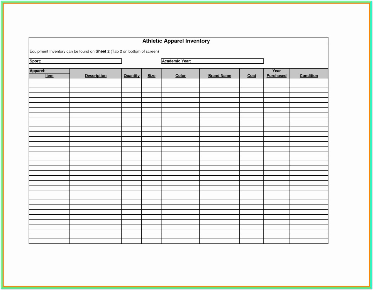 Printable Inventory Forms