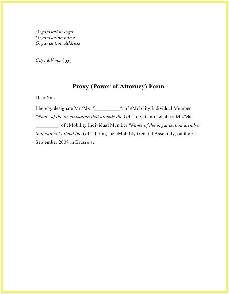 Printable Real Estate Power Of Attorney Form