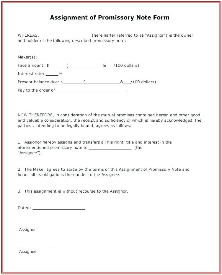 Printable Simple Iou Form